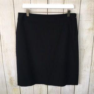 Banana Repulic | Black Classic Lined Pencil Skirt